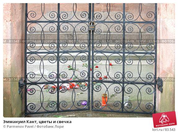 Эммануил Кант, цветы и свечка, фото № 83543, снято 3 сентября 2007 г. (c) Parmenov Pavel / Фотобанк Лори