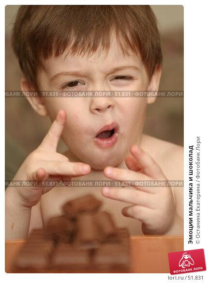 Эмоции мальчика и шоколад, фото № 51831, снято 9 мая 2007 г. (c) Останина Екатерина / Фотобанк Лори