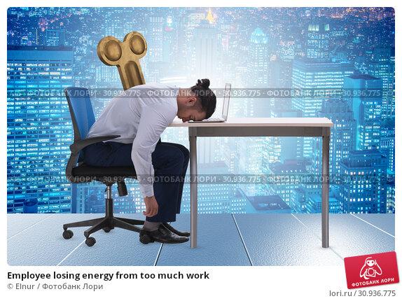 Купить «Employee losing energy from too much work», фото № 30936775, снято 17 июля 2019 г. (c) Elnur / Фотобанк Лори