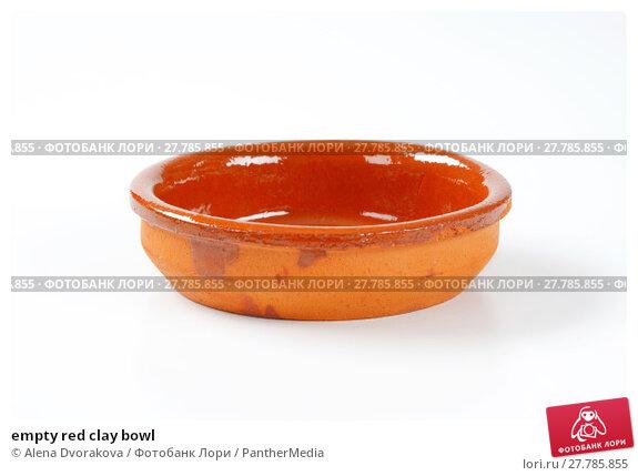Купить «empty red clay bowl», фото № 27785855, снято 20 февраля 2018 г. (c) PantherMedia / Фотобанк Лори
