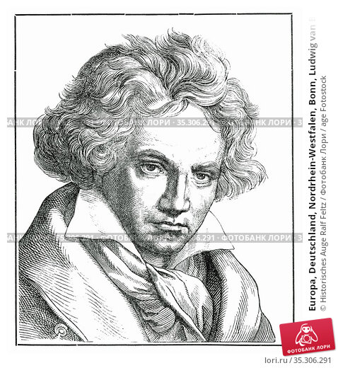 Europa, Deutschland, Nordrhein-Westfalen, Bonn, Ludwig van Beethoven... Редакционное фото, фотограф Historisches Auge Ralf Feltz / age Fotostock / Фотобанк Лори