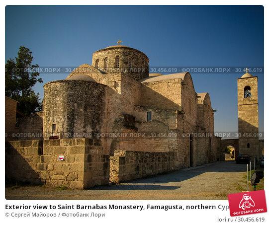 Exterior view to Saint Barnabas Monastery, Famagusta, northern Cyprus (2013 год). Стоковое фото, фотограф Сергей Майоров / Фотобанк Лори