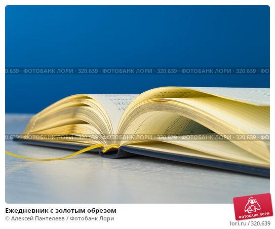 Купить «Ежедневник с золотым обрезом», фото № 320639, снято 11 июня 2008 г. (c) Алексей Пантелеев / Фотобанк Лори