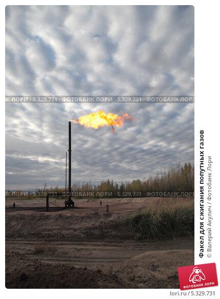 Купить «Факел для сжигания попутных газов», эксклюзивное фото № 5329731, снято 20 сентября 2012 г. (c) Валерий Акулич / Фотобанк Лори