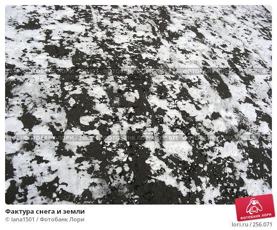 Фактура снега и земли, эксклюзивное фото № 256071, снято 5 марта 2008 г. (c) lana1501 / Фотобанк Лори