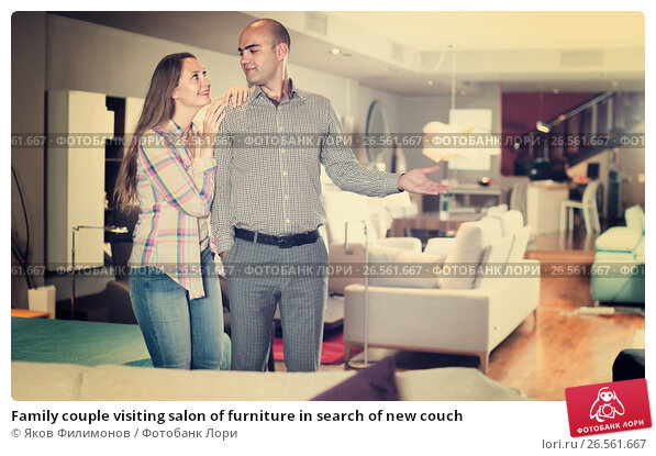 Family couple visiting salon of furniture in search of new for 16 image the family salon