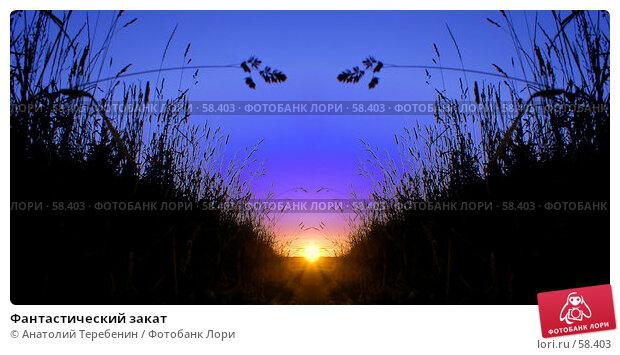 Фантастический закат, фото № 58403, снято 21 июня 2007 г. (c) Анатолий Теребенин / Фотобанк Лори