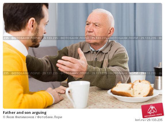 Купить «Father and son arguing», фото № 29133235, снято 20 февраля 2019 г. (c) Яков Филимонов / Фотобанк Лори