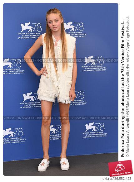 Federica Pala during the photocall at the 78th Venice Film Festival... Редакционное фото, фотограф Maria Laura Antonelli / AGF/Maria Laura Antonelli / age Fotostock / Фотобанк Лори