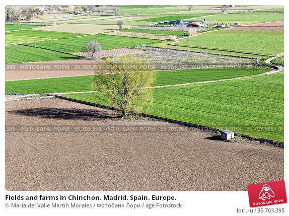 Fields and farms in Chinchon. Madrid. Spain. Europe. Стоковое фото, фотограф María del Valle Martín Morales / age Fotostock / Фотобанк Лори