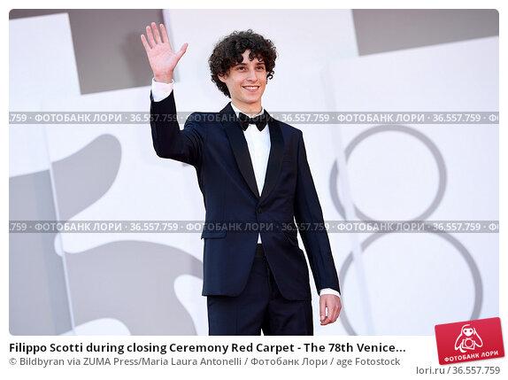 Filippo Scotti during closing Ceremony Red Carpet - The 78th Venice... Редакционное фото, фотограф Bildbyran via ZUMA Press/Maria Laura Antonelli / age Fotostock / Фотобанк Лори