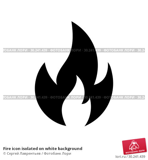 Купить «Fire icon isolated on white background», иллюстрация № 30241439 (c) Сергей Лаврентьев / Фотобанк Лори