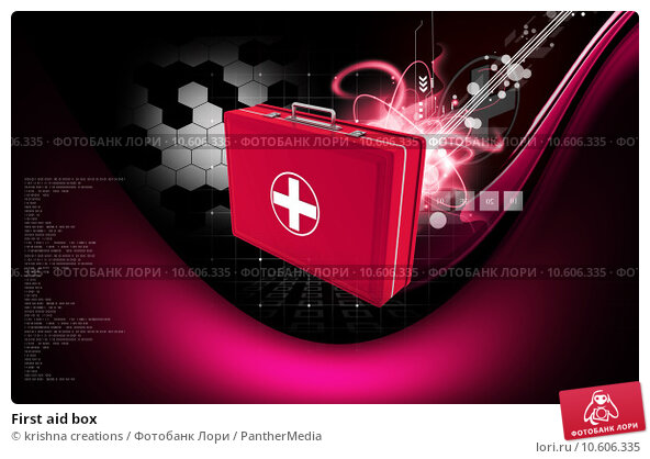 First aid box  . Стоковое фото, фотограф krishna creations / PantherMedia / Фотобанк Лори