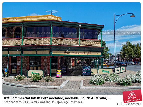 First Commercial Inn in Port Adelaide, Adelaide, South Australia, ... Стоковое фото, фотограф Zoonar.com/Dirk Rueter / age Fotostock / Фотобанк Лори