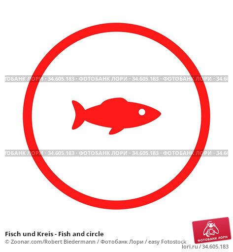 Fisch und Kreis - Fish and circle. Стоковое фото, фотограф Zoonar.com/Robert Biedermann / easy Fotostock / Фотобанк Лори
