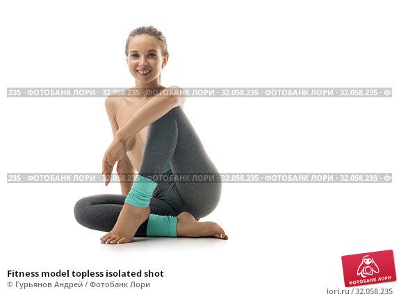 Fitness model topless isolated shot. Стоковое фото, фотограф Гурьянов Андрей / Фотобанк Лори