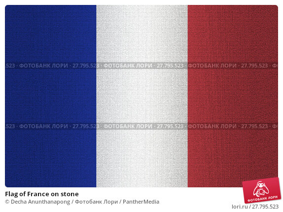 Купить «Flag of France on stone», фото № 27795523, снято 22 октября 2018 г. (c) PantherMedia / Фотобанк Лори