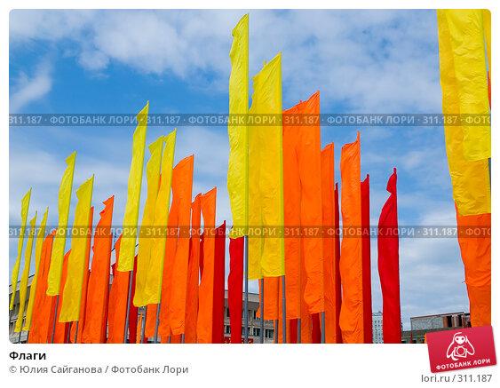 Купить «Флаги», фото № 311187, снято 13 июля 2005 г. (c) Юлия Сайганова / Фотобанк Лори