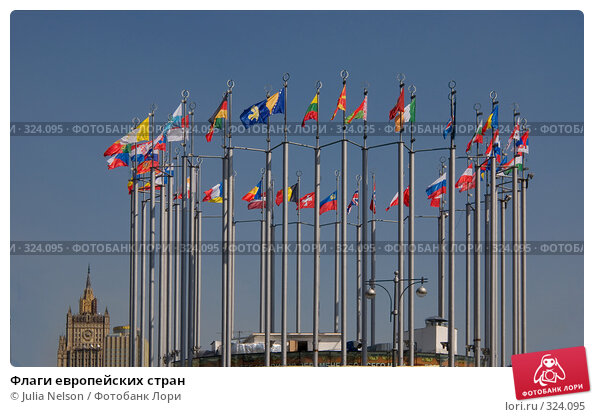 Купить «Флаги европейских стран», фото № 324095, снято 29 апреля 2008 г. (c) Julia Nelson / Фотобанк Лори