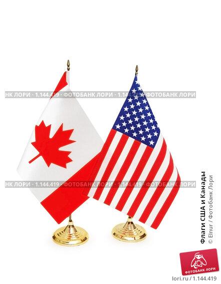 Флаги США и Канады. Стоковое фото, фотограф Elnur / Фотобанк Лори