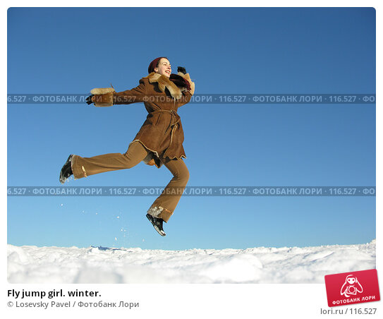 Fly jump girl. winter., фото № 116527, снято 14 декабря 2005 г. (c) Losevsky Pavel / Фотобанк Лори