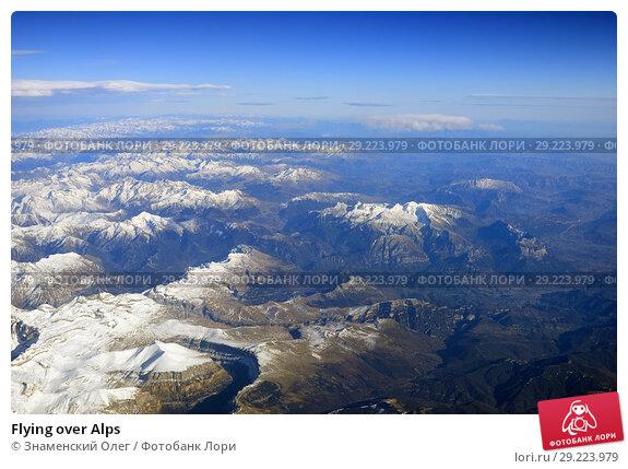 Купить «Flying over Alps», фото № 29223979, снято 16 февраля 2007 г. (c) Знаменский Олег / Фотобанк Лори