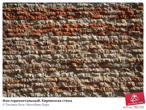 Фон горизонтальный. Кирпичная стена, эксклюзивное фото № 302315, снято 26 апреля 2008 г. (c) Татьяна Лата / Фотобанк Лори