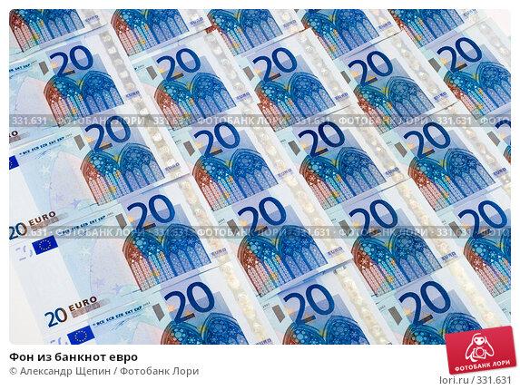 Фон из банкнот евро, эксклюзивное фото № 331631, снято 18 июня 2008 г. (c) Александр Щепин / Фотобанк Лори