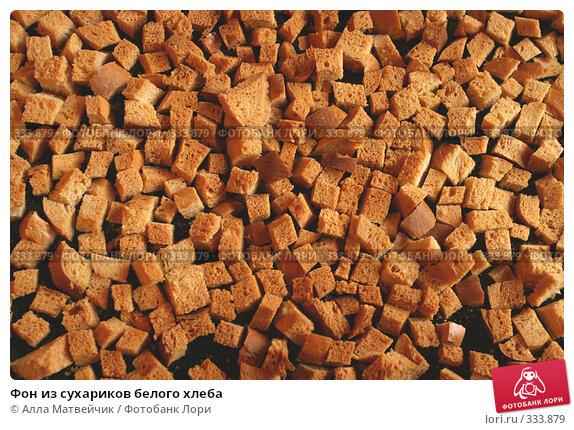 Фон из сухариков белого хлеба, фото № 333879, снято 15 июня 2008 г. (c) Алла Матвейчик / Фотобанк Лори