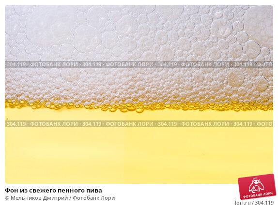Купить «Фон из свежего пенного пива», фото № 304119, снято 19 апреля 2008 г. (c) Мельников Дмитрий / Фотобанк Лори