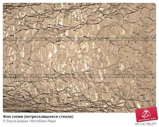 Фон сепия (потрескавшееся стекло), фото № 50271, снято 22 мая 2007 г. (c) Ольга Шаран / Фотобанк Лори