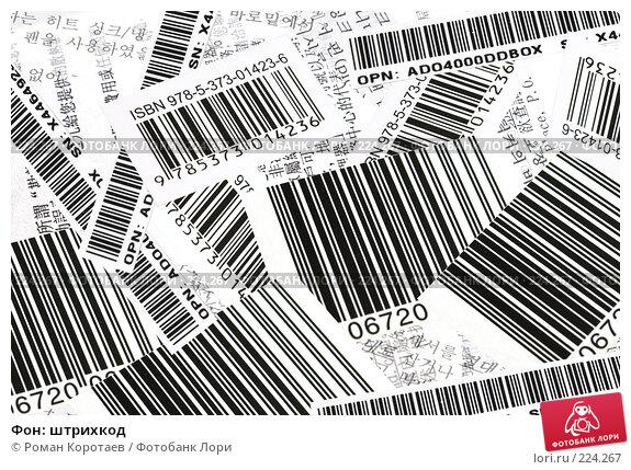 Купить «Фон: штрихкод», фото № 224267, снято 16 марта 2008 г. (c) Роман Коротаев / Фотобанк Лори