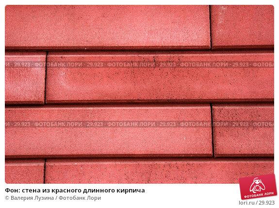 Купить «Фон: стена из красного длинного кирпича», фото № 29923, снято 4 апреля 2007 г. (c) Валерия Потапова / Фотобанк Лори