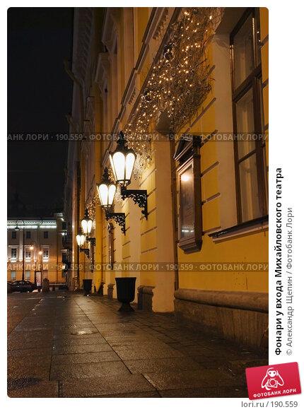 Купить «Фонари у входа Михайловского театра», эксклюзивное фото № 190559, снято 12 января 2008 г. (c) Александр Щепин / Фотобанк Лори