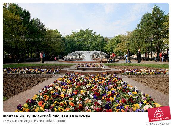 Фонтан на Пушкинской площади в Москве, эксклюзивное фото № 283467, снято 9 мая 2008 г. (c) Журавлев Андрей / Фотобанк Лори