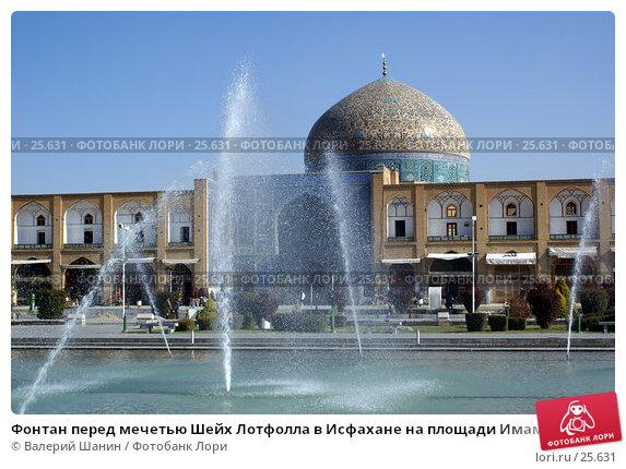 Фонтан перед мечетью Шейх Лотфолла в Исфахане на площади Имама Хомейни, фото № 25631, снято 28 ноября 2006 г. (c) Валерий Шанин / Фотобанк Лори