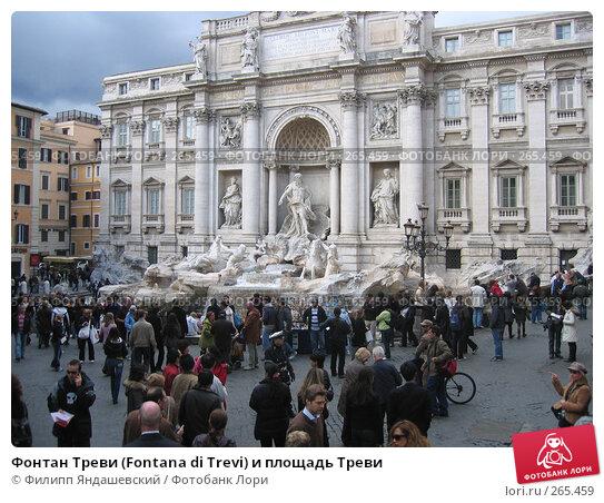 Фонтан Треви (Fontana di Trevi) и площадь Треви, фото № 265459, снято 9 марта 2008 г. (c) Филипп Яндашевский / Фотобанк Лори