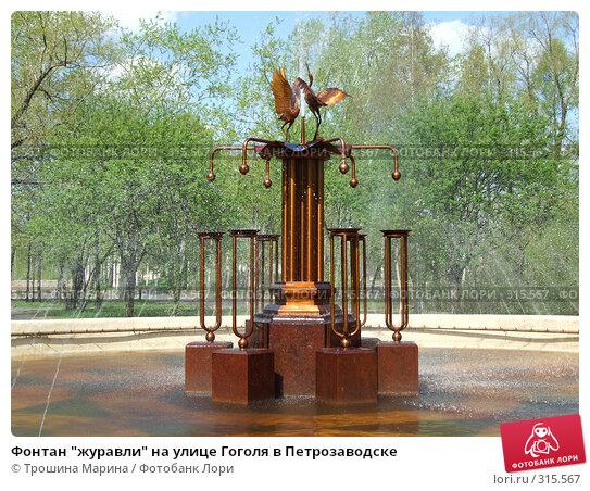 """Фонтан """"журавли"""" на улице Гоголя в Петрозаводске, фото № 315567, снято 19 мая 2007 г. (c) Трошина Марина / Фотобанк Лори"""