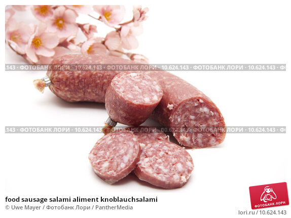 food sausage salami aliment knoblauchsalami. Стоковое фото, фотограф Uwe Mayer / PantherMedia / Фотобанк Лори