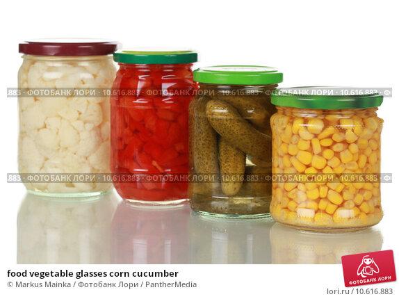 food vegetable glasses corn cucumber. Стоковое фото, фотограф Markus Mainka / PantherMedia / Фотобанк Лори