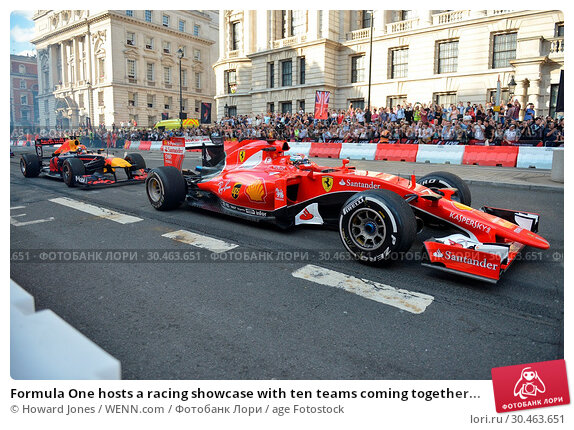 Formula One hosts a racing showcase with ten teams coming together... (2017 год). Редакционное фото, фотограф Howard Jones / WENN.com / age Fotostock / Фотобанк Лори