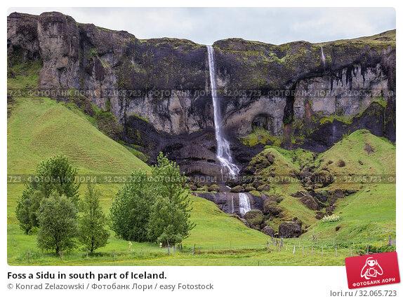 Foss a Sidu in south part of Iceland. Стоковое фото, фотограф Konrad Zelazowski / easy Fotostock / Фотобанк Лори
