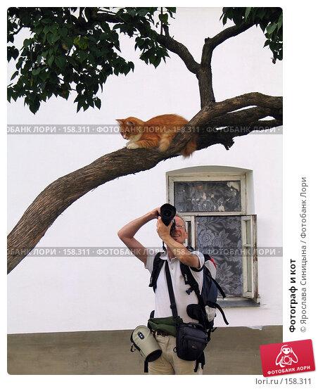 Купить «Фотограф и кот», фото № 158311, снято 18 августа 2007 г. (c) Ярослава Синицына / Фотобанк Лори