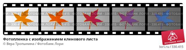 Купить «Фотопленка с изображением кленового листа», иллюстрация № 330415 (c) Вера Тропынина / Фотобанк Лори