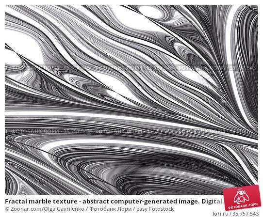 Fractal marble texture - abstract computer-generated image. Digital... Стоковое фото, фотограф Zoonar.com/Olga Gavrilenko / easy Fotostock / Фотобанк Лори