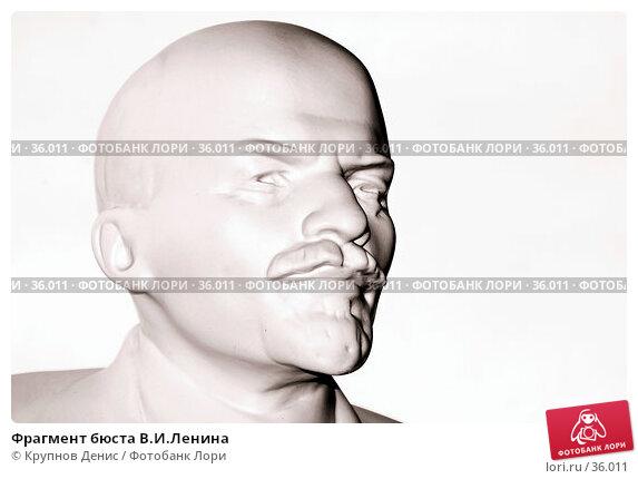 Фрагмент бюста В.И.Ленина, фото № 36011, снято 16 марта 2007 г. (c) Крупнов Денис / Фотобанк Лори