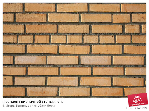 Фрагмент кирпичной стены. Фон., фото № 243799, снято 6 апреля 2008 г. (c) Игорь Веснинов / Фотобанк Лори