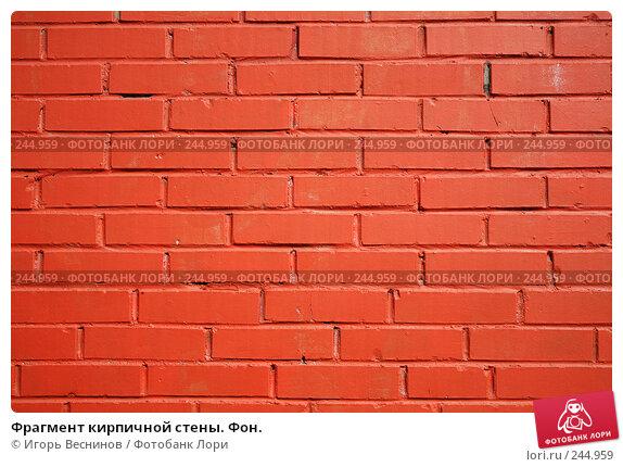 Фрагмент кирпичной стены. Фон., фото № 244959, снято 6 апреля 2008 г. (c) Игорь Веснинов / Фотобанк Лори