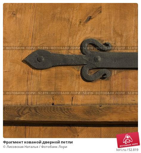 Фрагмент кованой дверной петли, фото № 52819, снято 18 марта 2006 г. (c) Лисовская Наталья / Фотобанк Лори