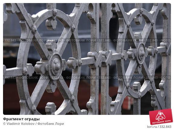 Купить «Фрагмент ограды», фото № 332843, снято 16 июня 2008 г. (c) Vladimir Kolobov / Фотобанк Лори